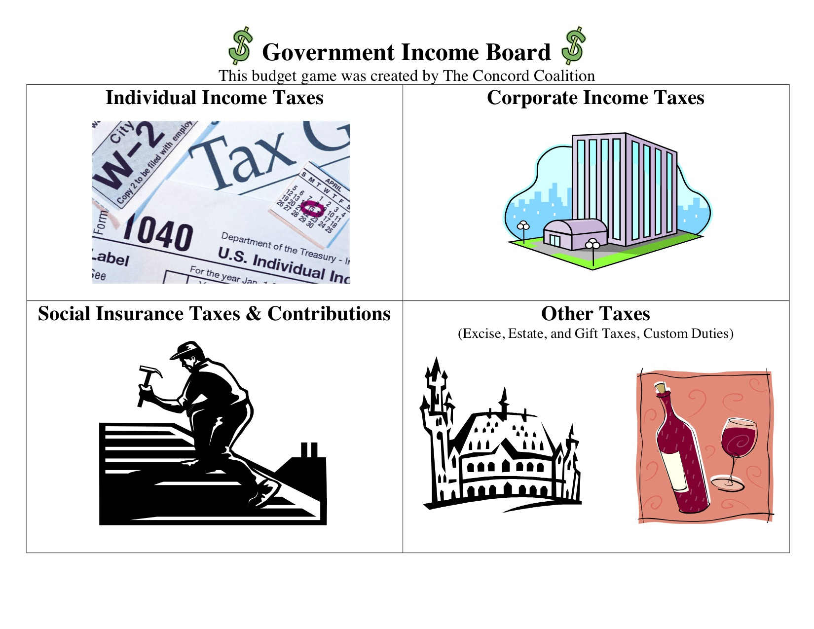 income game board